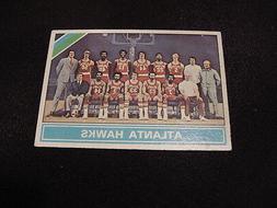 1975-76 Topps #203 Atlanta Hawks Team Card, Lou Hudson, John