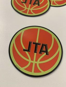 atlanta basketball 3 inch circle car truck