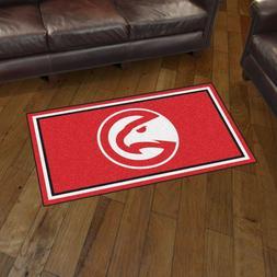 Atlanta Hawks 3' X 5' Decorative Ultra Plush Carpet Area Rug