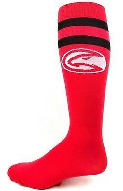 Atlanta Hawks Basketball Red Knee Socks with Two Black Strip