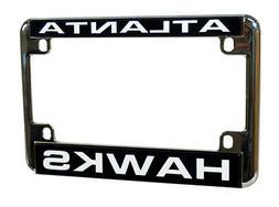 Atlanta Hawks Chrome Motorcycle License Plate Frame RV