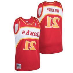 Atlanta Hawks Dominique Wilkins #21 Mitchell & Ness 1986-87