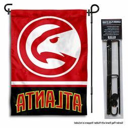 Atlanta Hawks Garden Flag and Yard Stand Included