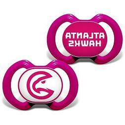 Atlanta Hawks Infant 2-Pack Pink Pacifiers
