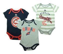 "Adidas Atlanta Hawks Infants Baby NBA Creeper ""3 Point"" Body"