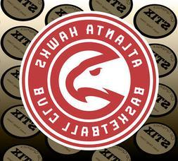 Atlanta Hawks Logo NBA Color Die Cut Vinyl Sticker Car Windo