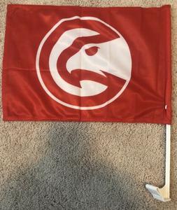 Atlanta Hawks NBA Auto Car Window Flag Logo NEW  11 x 14