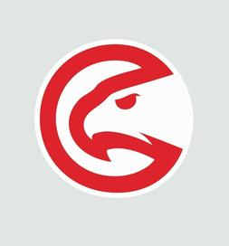 Atlanta Hawks NBA Basketball Full Color Logo Sports Decal St