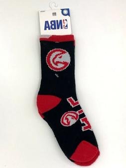 Atlanta Hawks NBA Basketball Youth Red Black Crew Socks