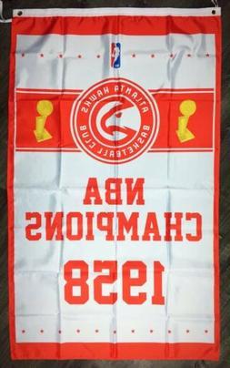 atlanta hawks nba championship flag 3x5 ft