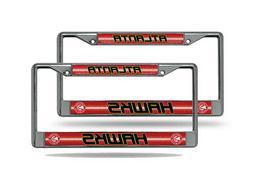 Atlanta Hawks NBA Chrome Metal  Bling License Plate Frame Se