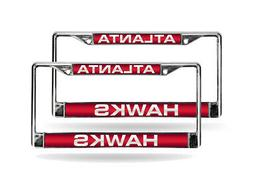 Atlanta Hawks NBA Chrome Metal  Laser Cut License Plate Fram
