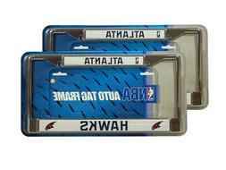 Atlanta Hawks NBA Chrome Metal  License Plate Frames