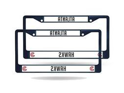 Atlanta Hawks NBA Navy  Painted Chrome Metal License Plate F
