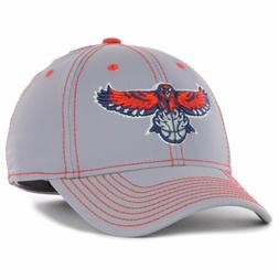 Atlanta Hawks Adidas NBA Primary Grey Flex Cap Hat Basketbal