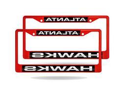 Atlanta Hawks NBA  Red Painted Metal Laser Cut License Plate