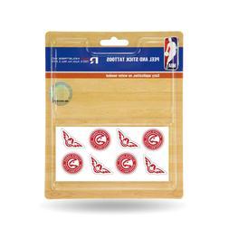 Atlanta Hawks Peel and Stick Tattoos 8 per pack.  #921