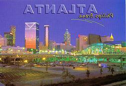 ATLANTA HAWKS PHILIPS ARENA STADIUM POSTCARD - NIGHT VIEW
