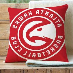 "Atlanta Hawks Pillows Car Sofa Bed Home Decor 16""x16"" Cover"