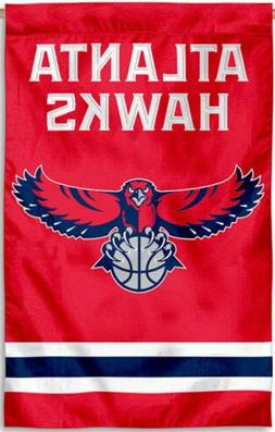 Atlanta Hawks Premium 2-sided 28x44 Banner Embroidered Appli