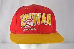 atlanta hawks red gold baseball cap snapback