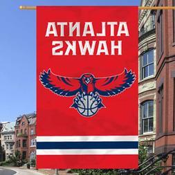 "Atlanta Hawks 44"" x 28"" Red Team Logo Applique Banner"