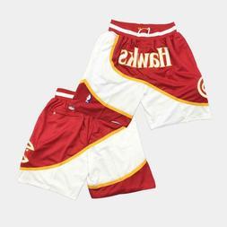 Atlanta Hawks Shorts Basketball Shorts with Pocket Pants S M