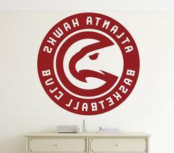 Basketball Team Atlanta Hawks Wall Decal Vinyl Sticker NBA E