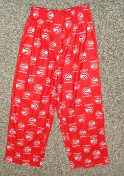 Boys NBA Atlanta Hawks Pajama Pants Red White Small 6-7 NEW
