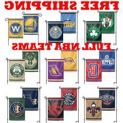"FULL NBA 2019 Outdoor Garden Flag Double Sides 12x18"" - Pick"
