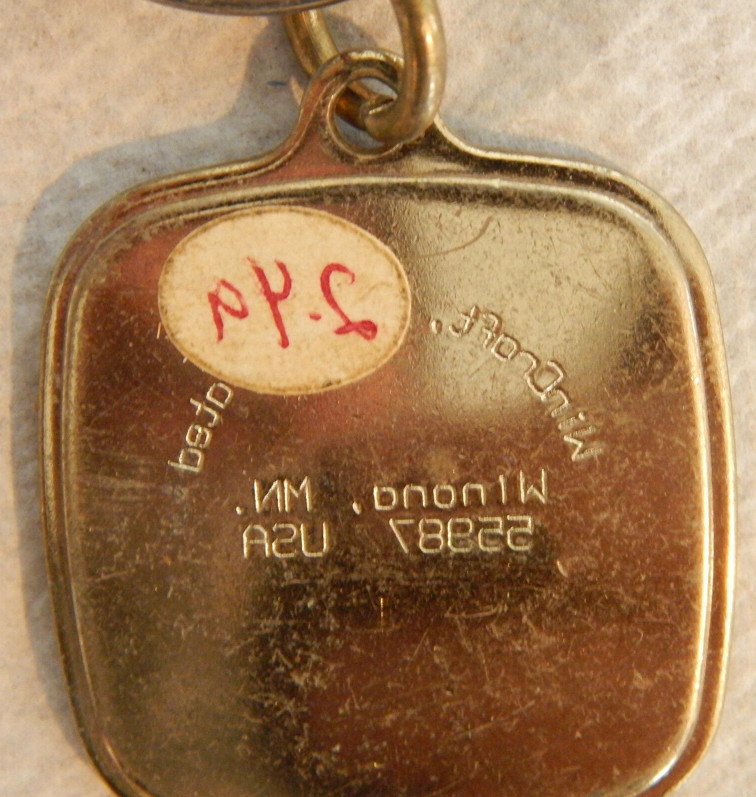 1990's Retro Enamel Keychain NOS By