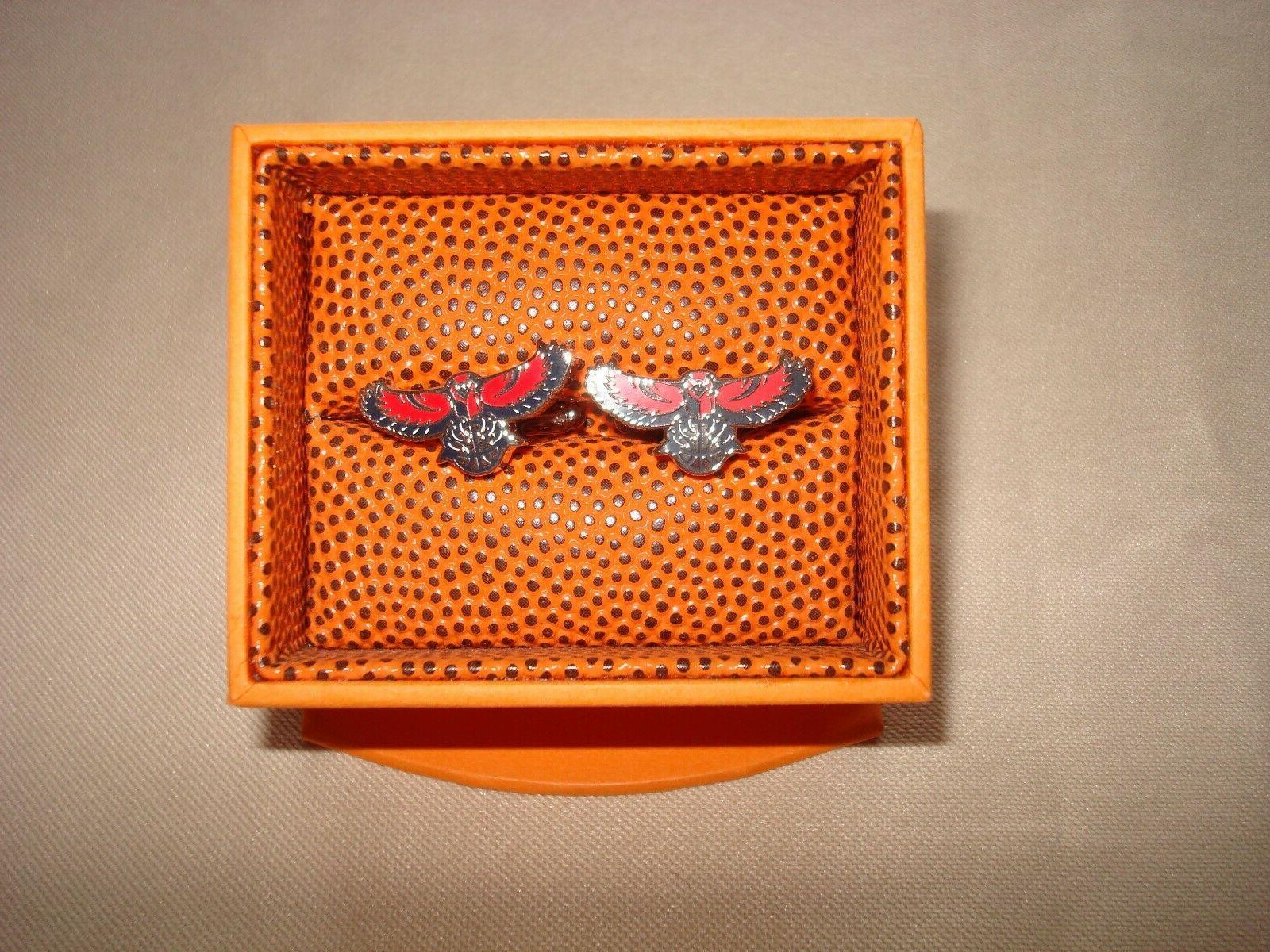 atlanta hawks cufflinks with gift box nwt