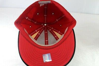 Atlanta Hawks Black/Red/Yellow Baseball Fitted 1/4