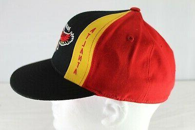 Atlanta Black/Red/Yellow Baseball Cap 1/4