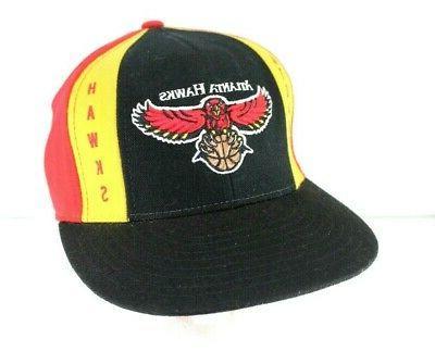 atlanta hawks nba black red yellow baseball