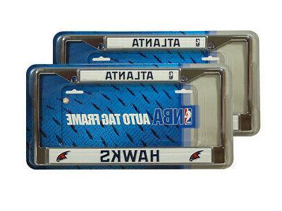 atlanta hawks nba chrome metal set of