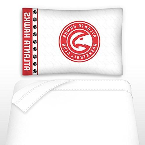 4pc Hawks Twin Team Logo Comforter Sheet