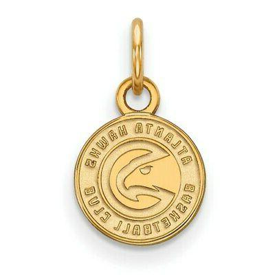 atlanta hawks women s gold plated xs