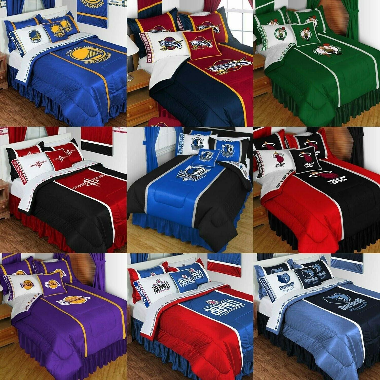 basketball bedding set sports team logo comforter