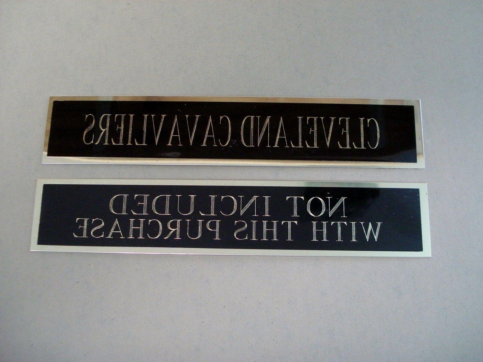 Atlanta Basketball Case Nameplate