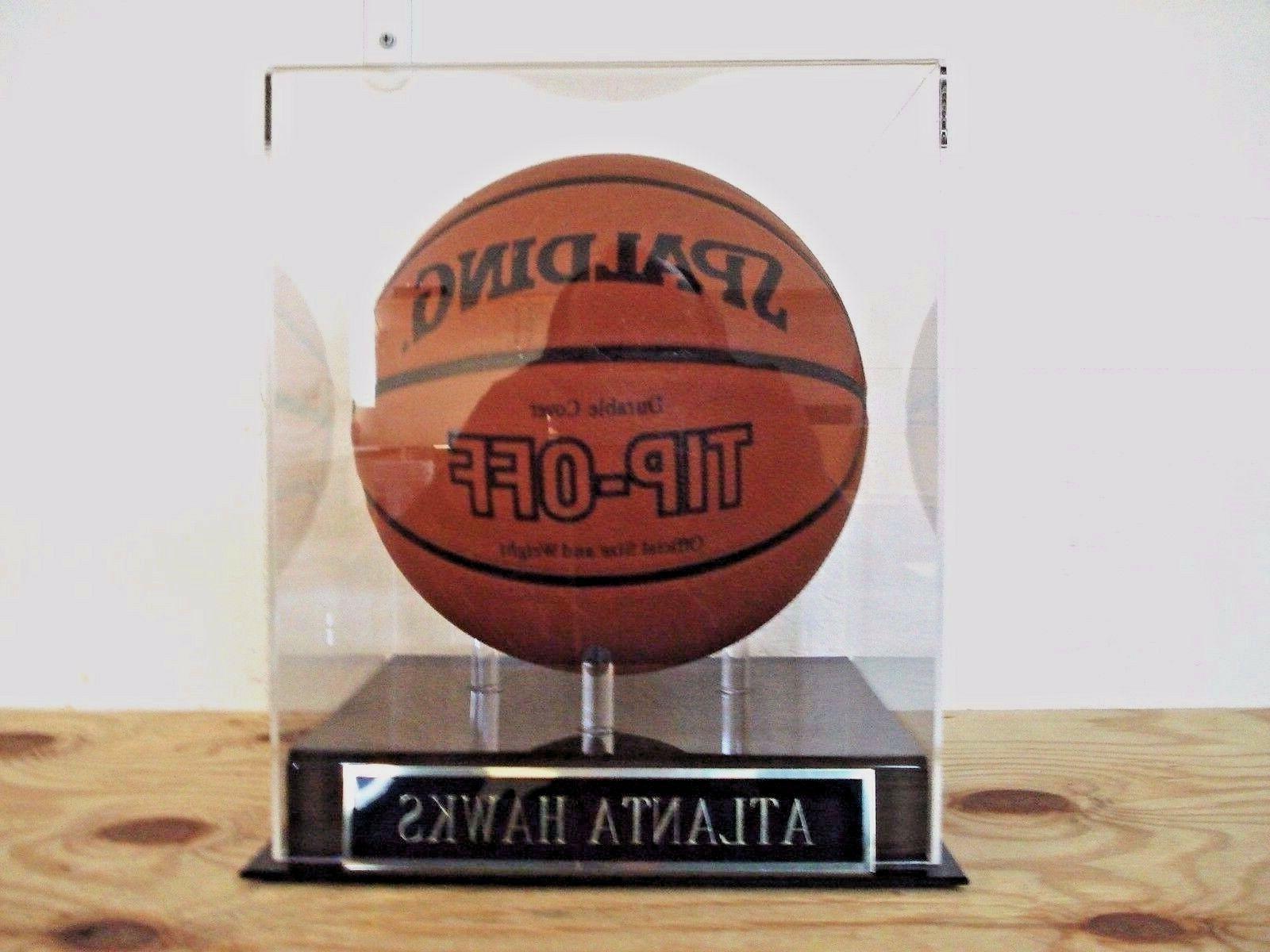 atlanta hawks basketball display case w an