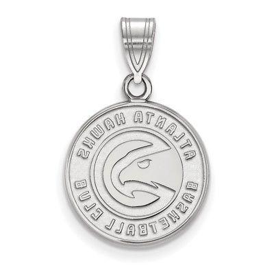 sterling silver nba atlanta hawks medium pendant