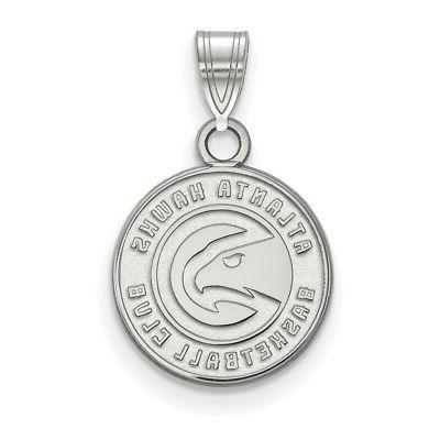sterling silver nba atlanta hawks small pendant