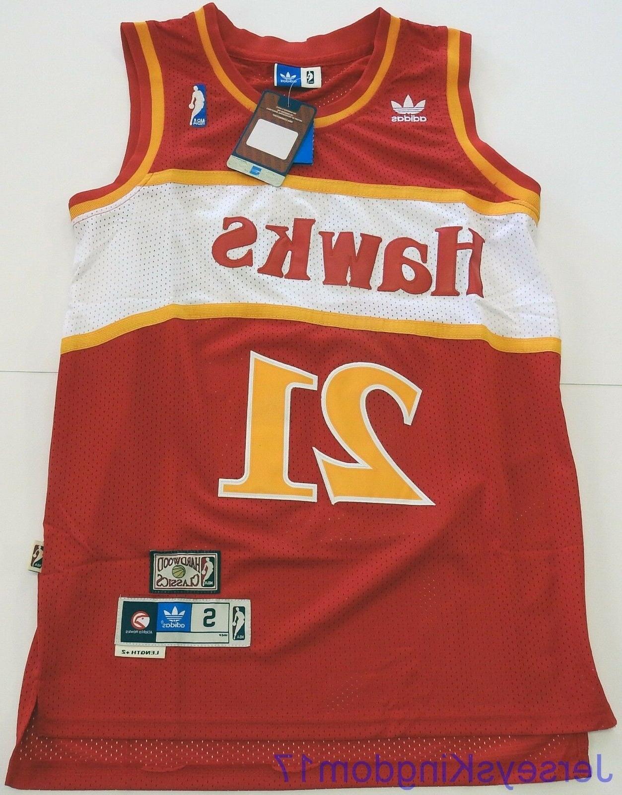 swingman basketball jersey dominique wilkins 21 atlanta