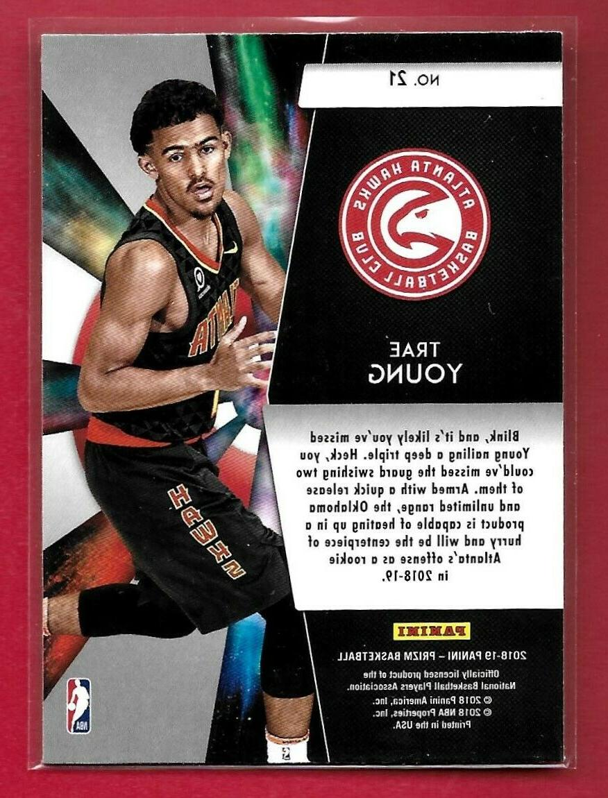 TRAE YOUNG 2018-19 PRIZM #21 ROOKIE