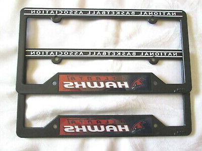 two 2 atlanta hawks license plate frames