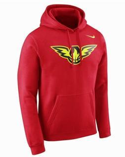 Nike NBA Atlanta Hawks Fleece Club Red Hoodie Sweatshirt 881