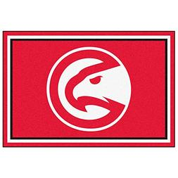 FANMATS NBA Atlanta Hawks Nylon Face 5X8 Plush Rug