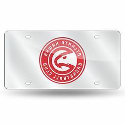 NBA Atlanta Hawks Silver Mirrored License Plate