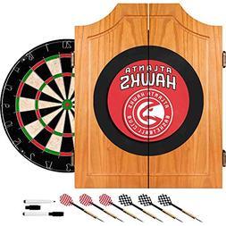 NBA Atlanta Hawks Wood Dart Cabinet Set
